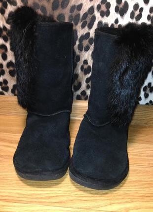 Теплые угги натуральный замш от бренда next ugg type boots