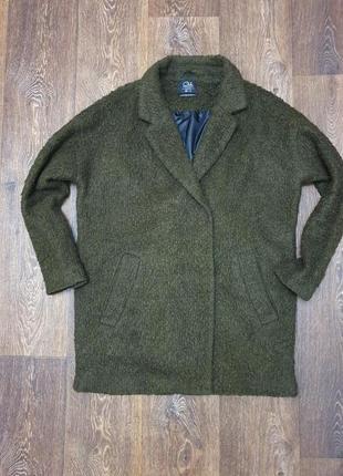 Мега стильное пальто кокон букле clockhouse