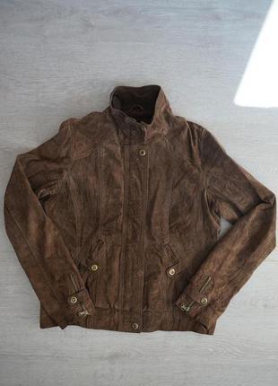 Куртка натуральная замшевая bershka