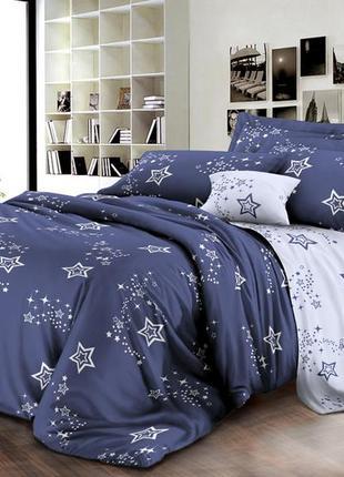 Комплект постельного белья (есть полуторка, двуспальное, евро) темно-синий