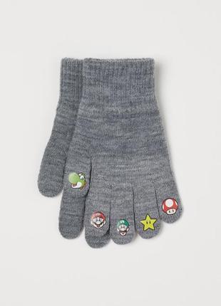 Тонкие вязаные перчатки h&m, р.110|128