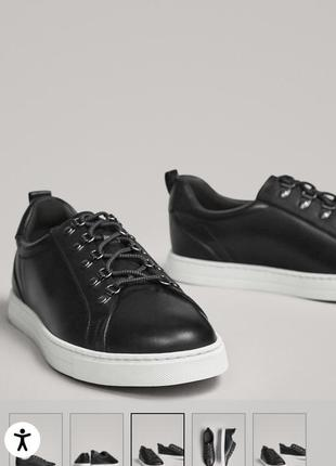 Кожаные кроссовки, кеды massimo dutti