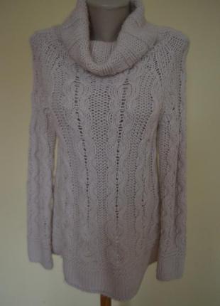Шикарная брендовая теплая кофта свитер с шерстью и альпакой