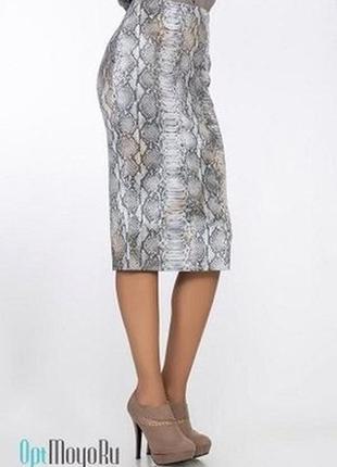 Шикарная юбка миди принт питон бренда m&s англия. с этикеткой. р-р 46-48/m-l