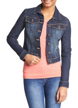 Брендовый джинсовый пиджак жакет с карманами cherokee