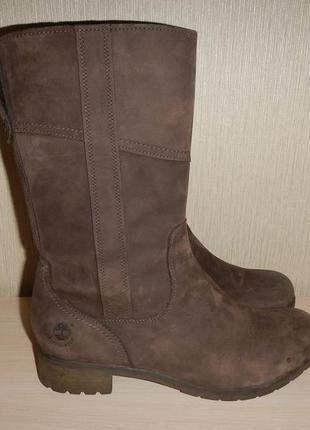 Кожаные сапоги ботинки timberland р.39,5(25,5см) деми