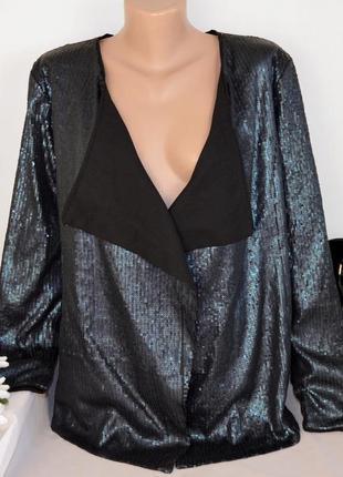 Брендовый пиджак жакет блейзер object паетки этикетка