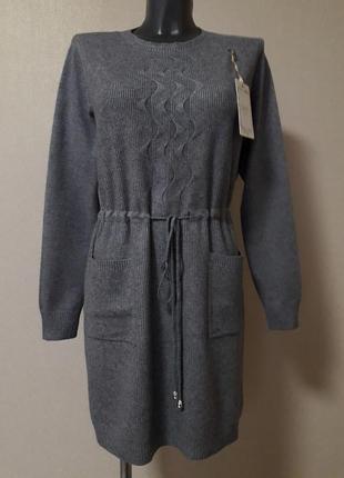 Комфортное,уютное,модное,качественное,платье-туника на шнуровке,оверсайз