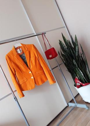 Шикарный велюровый пиджак с латками 1+1=3
