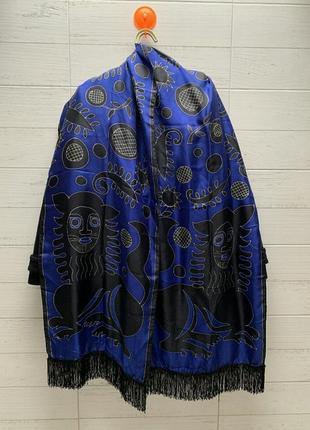 Шаль палантин шарф платок ручная работа франция