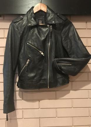 Кожаная куртка косуха от zara