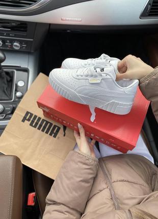 Puma cali white шикарные женские кроссовки пума кали белые7 фото