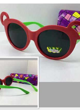 Детские солнцезащитные очки с ушками для девочки