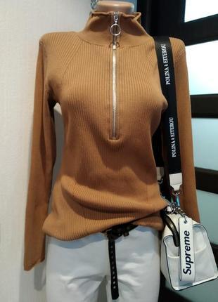 Стильная базовая водолазка кофточка джемпер свитер
