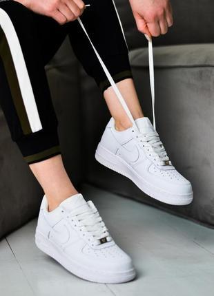Nike air force 1 low шикарные женские кроссовки найк белые4 фото