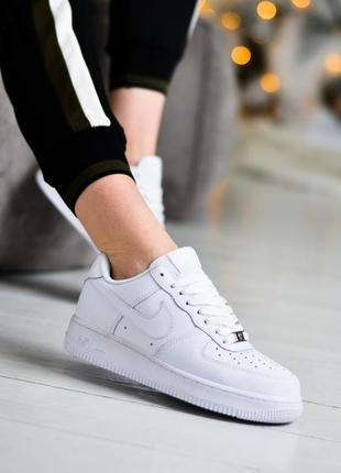 Nike air force 1 low шикарные женские кроссовки найк белые3 фото