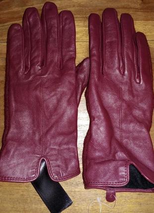 Женские перчатки jasper conran, кожа+текстиль