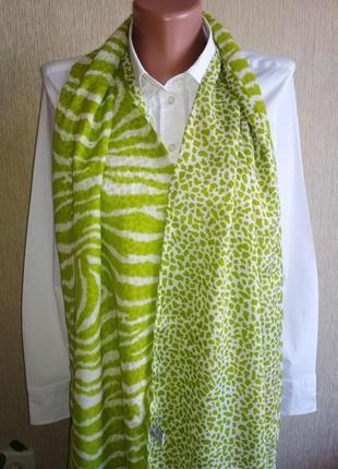 Прекрасный двусторонний шарф из натурального шелка