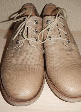 Кожаные туфли броги nero giardini р.39(25,5см)2 фото