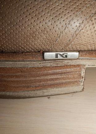 Кожаные туфли броги nero giardini р.39(25,5см)5 фото