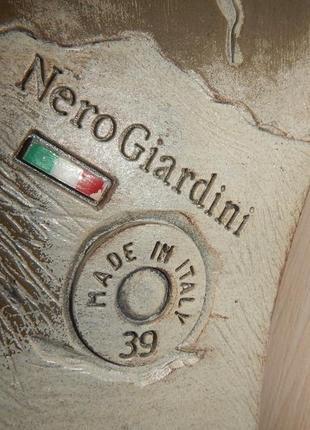Кожаные туфли броги nero giardini р.39(25,5см)8 фото