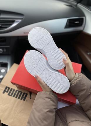 Puma cali white шикарные женские кроссовки  пума кали белые8 фото