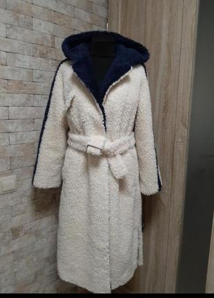Шуба пальто из натуральной овчины