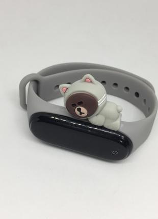 Ремешок mi band 3 mi band 4 mi smart band 4 мишка