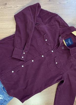 Рубашка вельветовая