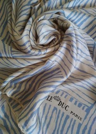Le duc paris платок из натурального шелка,шов роуль