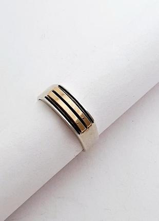 Серебряная мужское кольцо