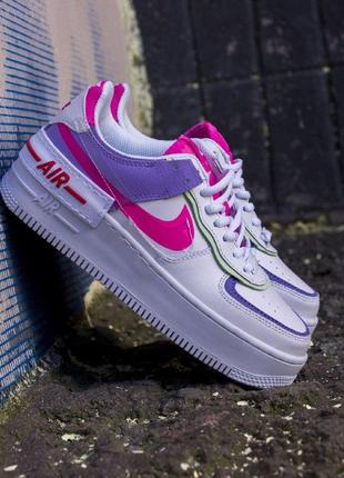 Nike air force shadow double swoosh женские кроссовки найк еир форс