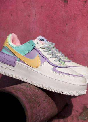 Nike air force shadow pale ivor женские кроссовки найк еир форс