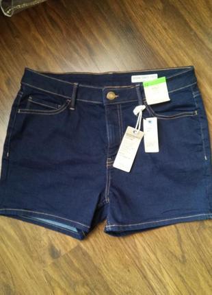 Очень крутые джинсовые шорты с высокой посадкой m&s
