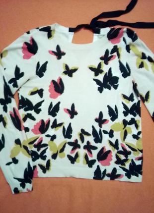 Весенний свитерок с бабочками oasis