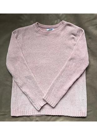 Велюровый светлый мягкий и тёплый свитер colloseum