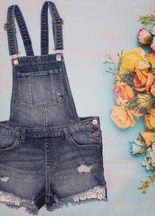 Очень крутой джинсовый ромпер h&m на 11-12лет