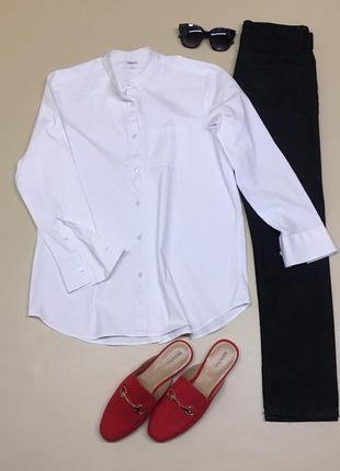 Белая рубашка со стойкой
