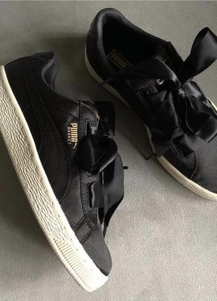 Новые чёрные кеды puma basket (оригинал) nike, new balance, adidas