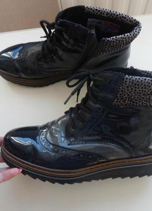 Кожаные ботинки rieker 38р