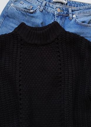 Базовый свитер pieces с объемными рукавами. красивая вязка2 фото