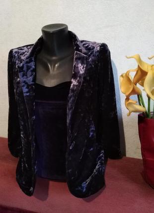 Мраморный бархат, красивый нарядный пиджак, с-м