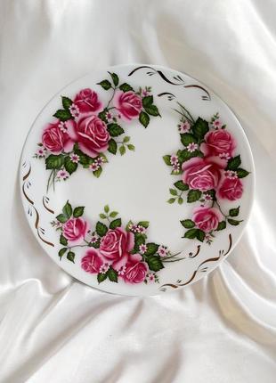 Винтажное фарфоровое блюдо ссср тарелка фарфор