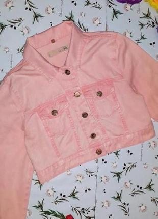 🎁1+1=3 стильная пудрово-розовая джинсовая куртка topshop, размер 42 - 442 фото