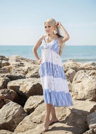 Сарафан, летнее платье с хлопка indiano 2251 anastasea 2020