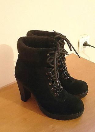 Женские демисезонные замшевые полусапожки ботинки фирмы g casual