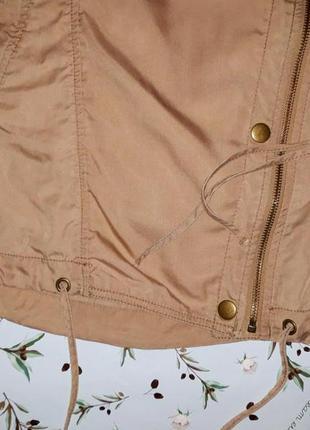 🎁1+1=3 стильная бежевая ветровка куртка парка косуха оверсайз next, размер 46 - 482 фото