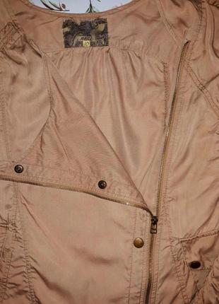 🎁1+1=3 стильная бежевая ветровка куртка парка косуха оверсайз next, размер 46 - 486 фото