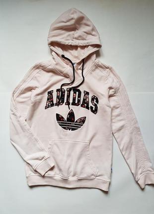 Худи с капюшоном adidas,толстовка худи adidas,женская толстовка,свитшот с принтом