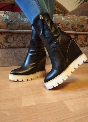 Испания.класс люкс! шикарные,женские,моднявые,кожаные сапоги,сапожки,ботинки,ботильены